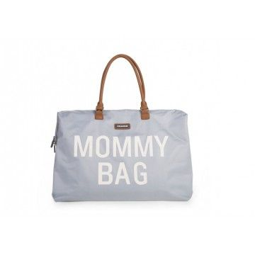 Bolso Mommy bag Blanco lineas rojo/ verde