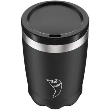 Vaso térmico Negro Mate con tapa 340 ml Chilly´s
