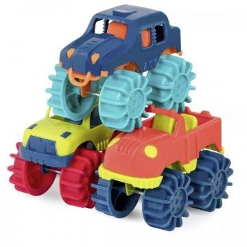 Pack 6 Mini Monster trucks de B.you + 2 Years