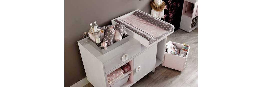 Cambiadores de beb para c moda y portatiles bblandia for Mueble cambiador para bebe