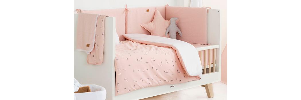 Colcha edredón para minicuna 50x80 ETOILE algodón rosa o