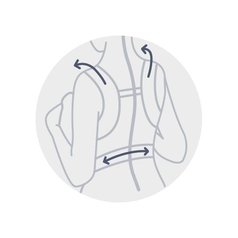 92641bbb97bf La mochila de porteo Smart proporciona al niño la seguridad y comodidad que  necesita, mientras tiene una posición anatómicamente correcta.